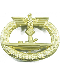 Kriegsmarine U-Boat Badge Gold