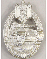 Panzer Assault Badge, Silver