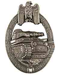 Panzer Assault Badge, Bronze