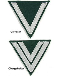 Heer Rank Chevron, Early War