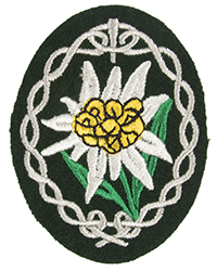 Heer Gebirgsjäger Patch, Bottle-green