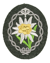 Heer Gebirgsjäger Sleeve Patch, field gray