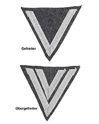 Luftwaffe Gefreiter/Obergefreiter Cheverons