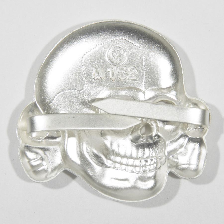 SS Metal Cap Totenkopf, Silver
