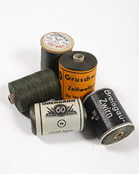 WWII German Thread Spool, Fieldgray