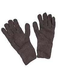 Gray Wool Knit Gloves