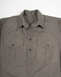 German Grey Cotton Service Shirt