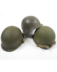 US Steel Pots w/ M1 chinstraps