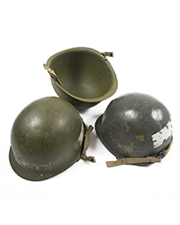 US Paratrooper Steel Pots w/ chinstraps