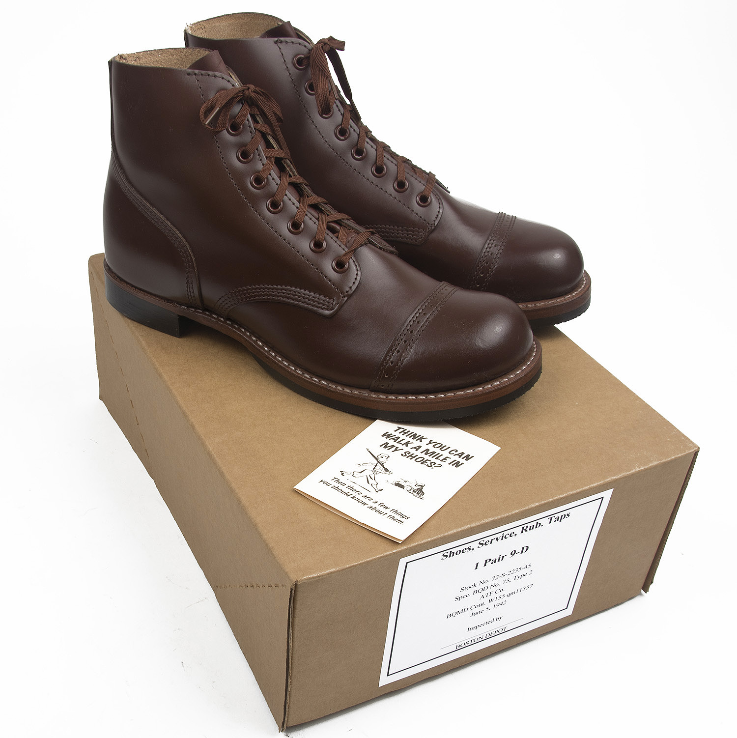 f6668f1f1f0e2 Brand new, American made reproduction of the standard issue boot worn by  soldiers and airmen throughout the Second World War. These are commonly  called