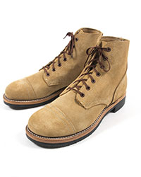Cap Toe Roughout Boots, Factory Seconds