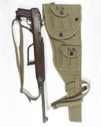 US WWII M1A1 US Paratrooper Carbine Scabbard, Rigger modified
