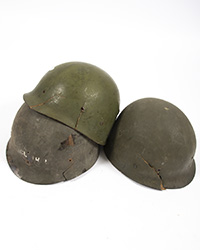 "Original US Helmet Liners, ""effed up"""