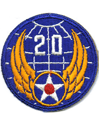 20th Air Force sleeve patch