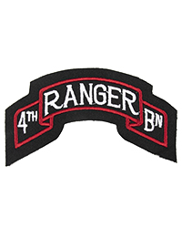 4th Ranger Battalion Scroll