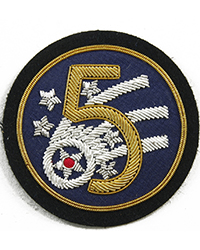 "5th Air Force (""Theatre-Made"" Bullion) sleeve patch"