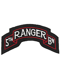 5th Ranger Battalion Scroll