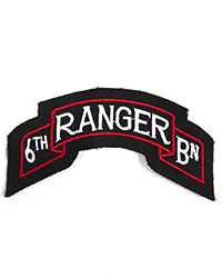 6th Ranger Battalion Scroll