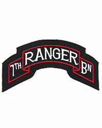 7th Ranger Battalion Scroll