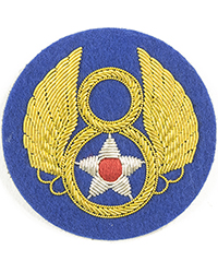 "8th Air Force (""Theatre-Made"" Bullion) sleeve patch"