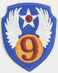 9th Air Force sleeve patch