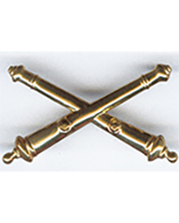 Artillery Army Officer Branch Collar Insignia, Pair