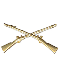 Infantry Army Officer Branch Collar Insignia, Pair