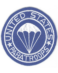 """US Paratroopers"" Infantry Blue on Wool Pocket Patch"