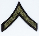 PFC Chevrons, Wool (Pair)