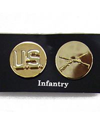 US EM Collar Disc, Infantry