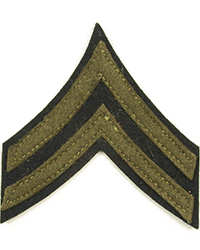 Original Corporal Chevrons, Wool (Pair)