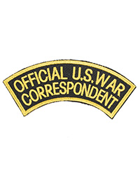 Official US War Correspondent Sleeve Patch