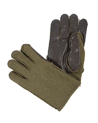 Leather Palm Wool Gloves
