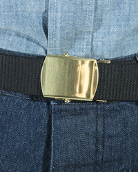 Trouser Belt w/ buckle, Black