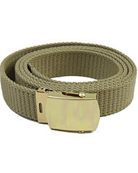 Officer's Khaki Trouser Belt