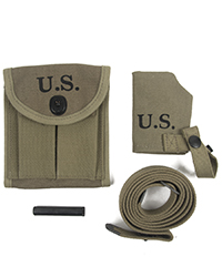 M1 Carbine Pouch, Sling & Muzzle Cover Package